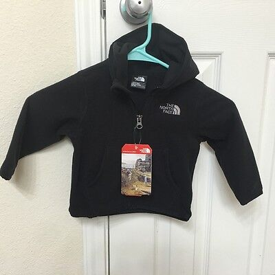 Brand New!! The North Face Baby Boy Infant Glacier Fleece hoodie Size 6-12m