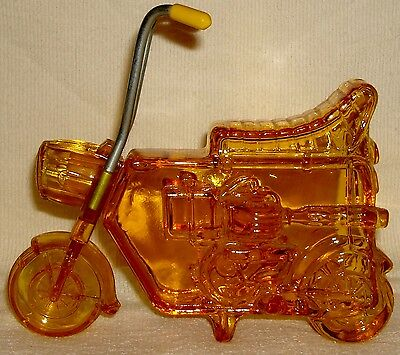 VTG Avon After Shave Amber Glass Motorcycle Bottle FULL Wild Country Mini Bike