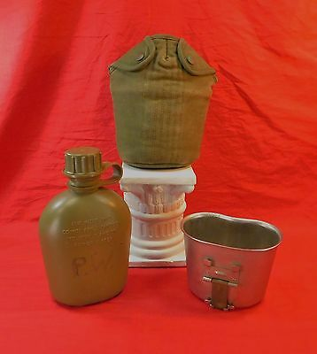 Vietnam War, U.S. M-56 Canteen, Cup and Cover Set