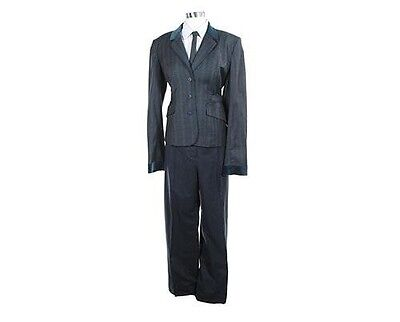 Bates Motel Norma's Navy-Blue Plaid Suit Screen Worn COA S.3 EP.10 Psycho Mother