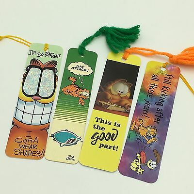 #A VINTAGE Garfield Bookmarks 1978 Jim Davis YARN PAPER PLASTIC