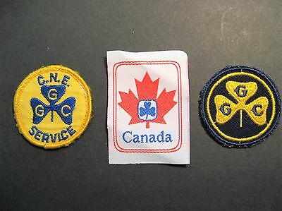 Girl Guides Canada 3 Embroidered Patches C.n.e. Brownies Sparks