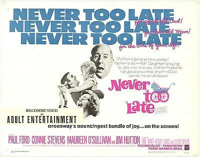 RARE 16mm Feature: NEVER TOO LATE (I B TECHNICOLOR) Connie Stevens