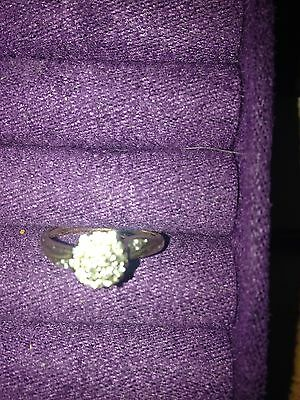 Ladies 9ct yellow gold Diamond Cluster Ring Size 7 Stamped 375 $242.00