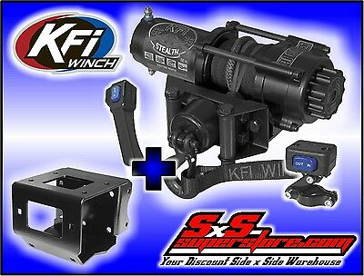 3500 lb KFI Stealth Winch Combo Synthetic Polaris Scrambler 850 1000 2013-2018