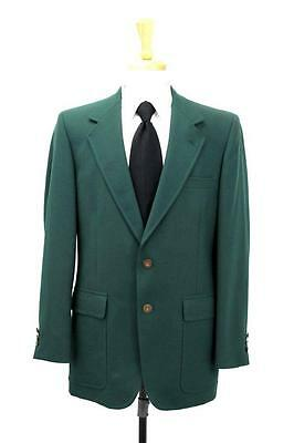 vintage mens green VARSITY TOWN blazer jacket gold buttons country club L 42 R