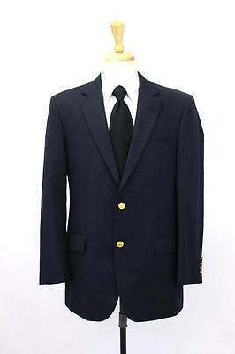 mens navy blue BROOKS BROTHERS 346 blazer jacket sport coat gold buttons M 40 R