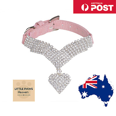 Rhinestone Bling Small Dog Collar Pet Puppy Cat Crystal Collars Party Necklace