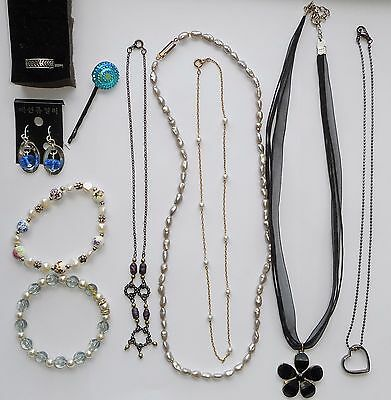 10 Pc Lot Child Jewelry Necklaces Bracelets Earrings Ring Hair Pin Wear Play