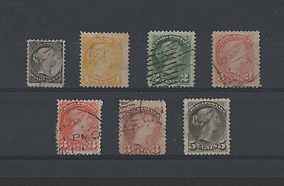 Canada, 7 Old used Stamps