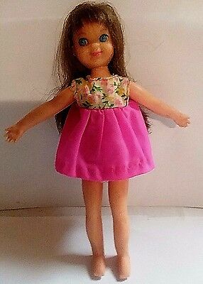 "Vintage 1965 Tutti Bendable Doll With The Original Clothes   6 1/2"" Height"