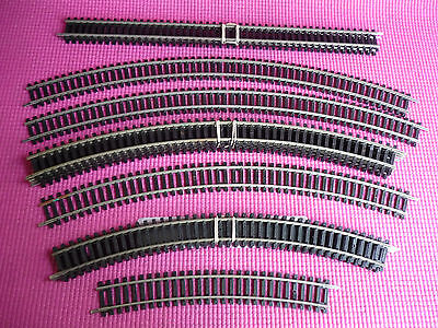 HORNBY RAILWAYS OO Setrack Pieces x 12 Nickel Silver Tri-ang Lima Peco Trains