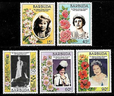 BARBUDA 1985 Old Beautiful Mint Stamps - 85 th. Birthday of Queen ' s  Mother