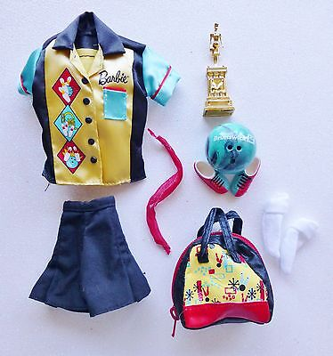 Barbie Vintage Reproduction Bowling Champ Complete Outfit DeBoxed Exlnt Cond