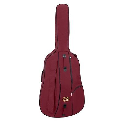 Tom and Will 3/4 Size Padded Double Bass Bag - Burgundy