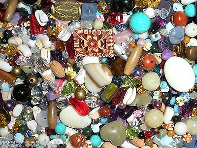 10oz. Assorted Beads! Assorted Sizes & Materials Bead Lot for Jewelry And Crafts