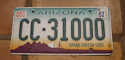 Arizona Embossed Graphic Base Commercial License Plate Cc-31000 Nice Number!