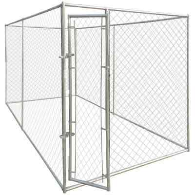 Outdoor Steel Dog Cage Kennel House Pet Enclosure Playpen Run Fence 2x4x1.95m