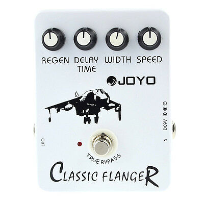 CS 5X Joyo JF-07 Classic Flanger Guitar Effect Pedal with BBD simulation circuit