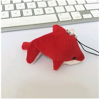 Red Baby dolphin phone bag hang a stuffed toy doll