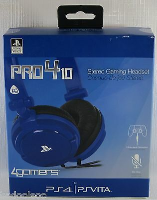 PlayStation 4 Vita Stereo Gaming Headset - PRO4-10 Blue - Officially Licensed