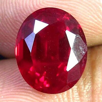 8.45 CTS. Natural Mozambique Pigeon Blood Red Ruby Faceted Oval Cut Gemstone