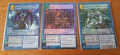 Bandai Digimon card Japanese  Daemon& Diaboromon & Arcadimon   set
