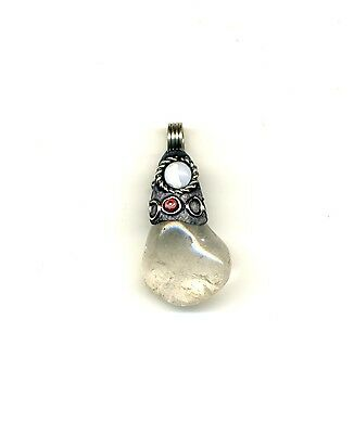 Peru Andes: Pendant with native Crystal in ornamented mount.