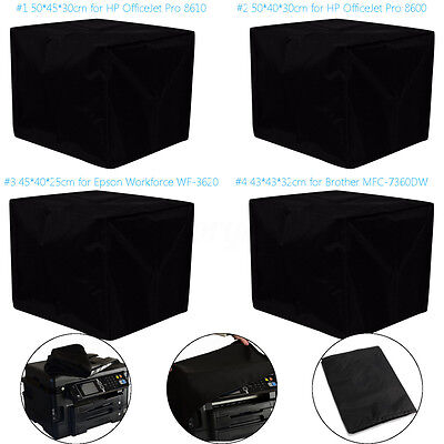4 Types Black Polyester Fiber Printer Dust Cover for HP OfficeJet Pro 8610/8600