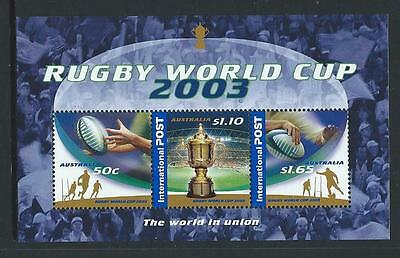 AUSTRALIA 2003 Rugby World Cup Minisheet MNH (SG MS2342)