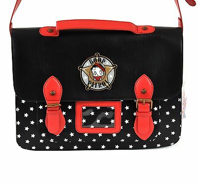 Betty Boop Patrol Satchel Black Red New (ST-3)
