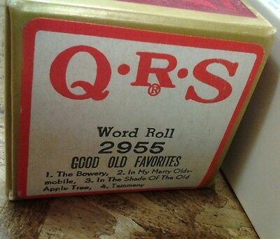 Q.R.S. QRS Piano Roll - Good Old Favorites - 4 Songs