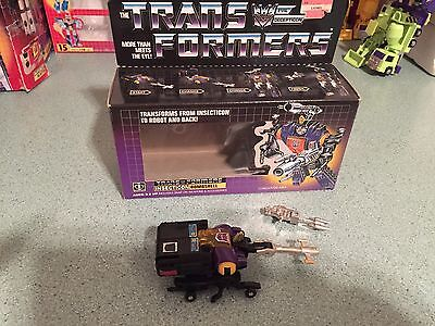 Original G1 Transformer Bombshell Complete With Very Nice Box