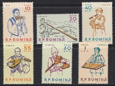 Romania 1961 Musical Instruments MNH