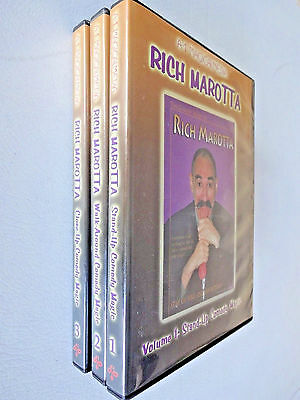 Rich Marotta Comedy Magic 3 DVD Set Magician Stand Up Close Up Walk Around