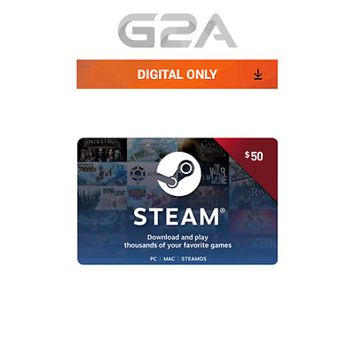 $50 Steam Card - 50 USD Prepaid Card - US dollar Code Steam Wallet Key USA
