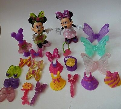 Disney Minnie Mouse Bow-Tique Snap N Style 2 Dolls, Clothes And Accessories