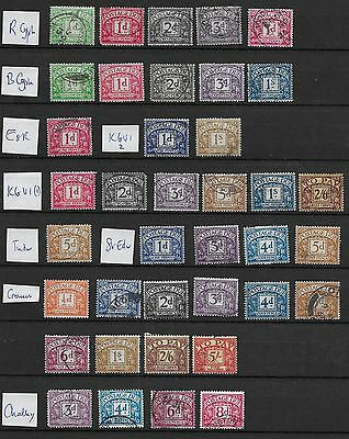 1912/60 Gb Postage Dues Excellent Selection Of 38 Different Vfu (7)
