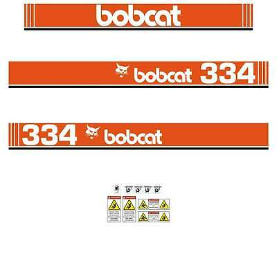 334 DECALS 334 Early Type Stickers Bobcat 334 repro Decals Stickers Kit