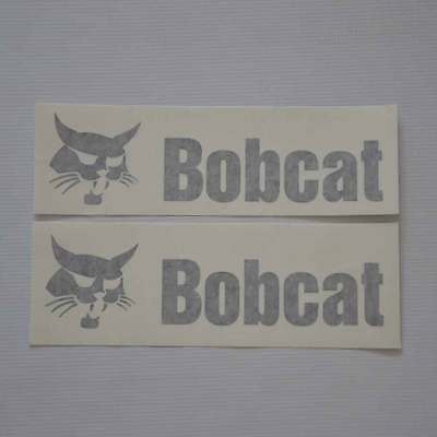 Pair of Boom Decals Bobcat Decal Stickers for Excavator