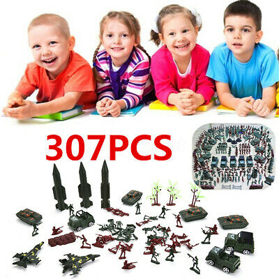 307pcs/set Soldier Grenade Tank Aircraft Rocket Army Men Sand Scene Model Toy