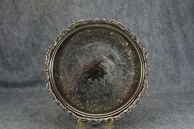 """Vintage Webster Willcox International Silver Co Silver-Plated 15"""" Serving Tray"""