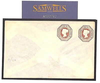 MS2782 GB QV EMBOSSED TEN PENCE Compound STO Postal Stationery Env Impressive