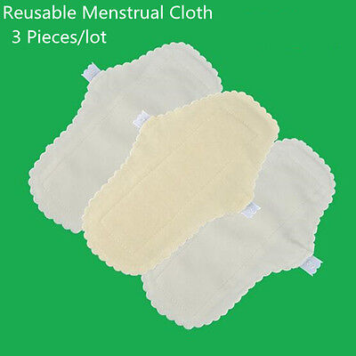 3 Pcs/lot Menstrual Cloth Sanitary Pads Washable Panty Liners Women Hygiene 24cm