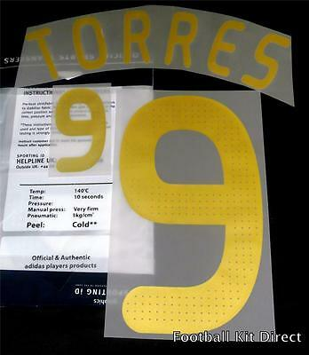 Spain Torres 9 Euro 2008 Football Shirt Name/Number Set Kit Home Sporting ID