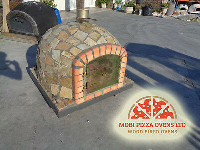 AMAZING OUTDOOR GARDEN BRICK WOOD FIRED PIZZA OVEN 90x90 STANDARD MODEL STONE