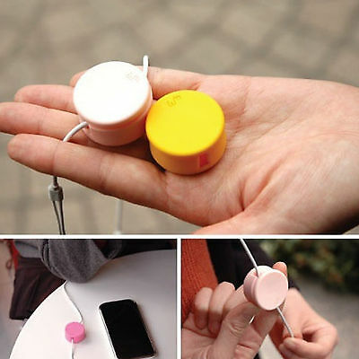 Smart Wrap   colorful round Holder For Headphone Earphone Phone Cable Cord Wire