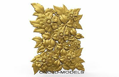 3D MODEL STL for CNC Router Engraver Carving Artcam Aspire Flowers Decor 8305