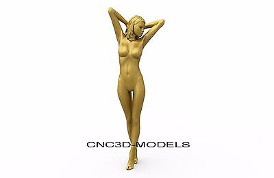 3D MODEL STL for CNC Router Carving Artcam Aspire Women Girl Naked 8306