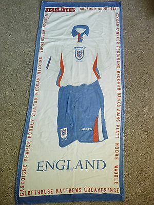 umbro cotton beach towel england football